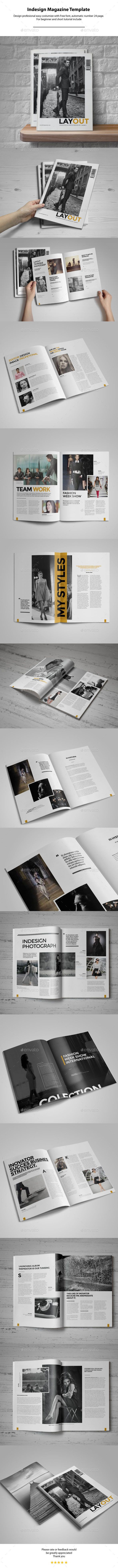Indesign Magazine Template — InDesign INDD #template #newsletter • Available here → https://graphicriver.net/item/indesign-magazine-template/11016212?ref=pxcr