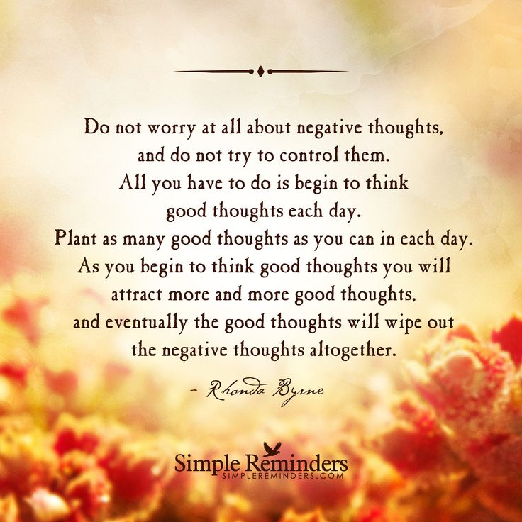 plant good thoughts // rhonda byrne