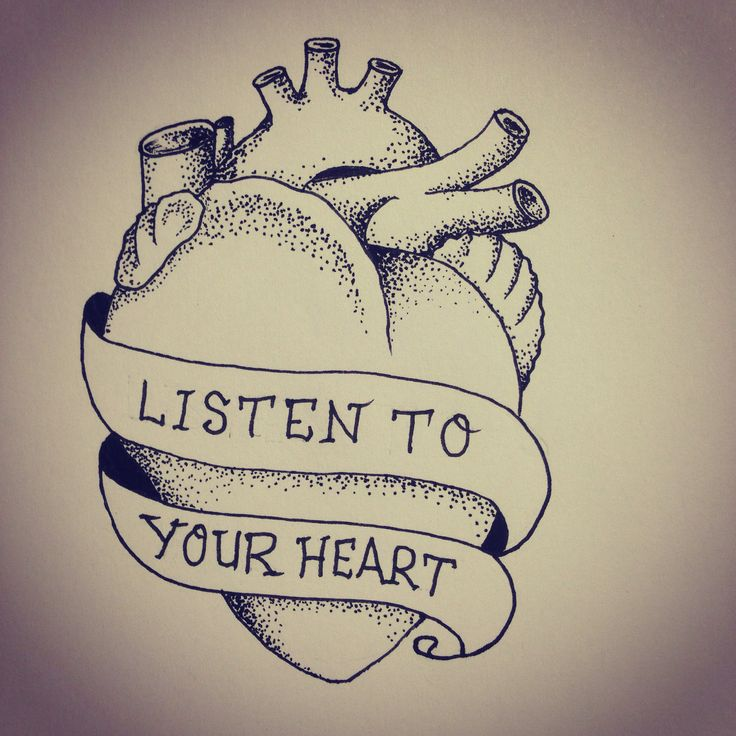 Listen to your Heart  #dotwork tattoo flash by FLORIAN Dünker