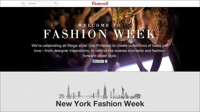 Pinterest (ピンタレスト) がニューヨーク、ロンドン、ミラノ、パリの4大ファッション・ウォークのハブを開設