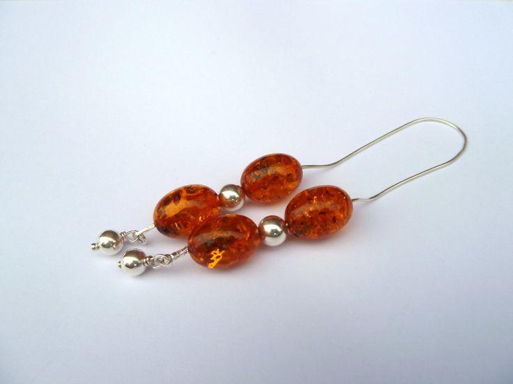 Handmade Greek Begleri beads, silver begleri,gift for him, open worry beads, orange bakelite begleri, orange rosary by accessoriesformen on Etsy