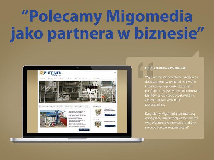 """Buttimer Polska S.A. """"Polecamy Migomedia jako partnera w biznesie"""""""
