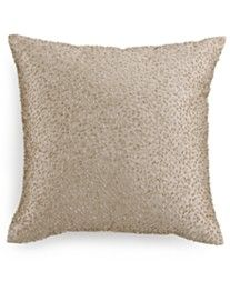 """Hotel Collection Finest Sunburst Beaded 16"""" Square Decorative Pillow, Only at Macy's"""