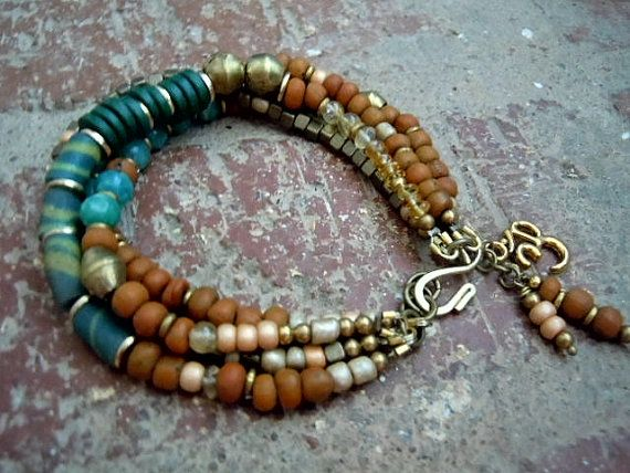 Gypsy Bracelet / Bohemian Bracelet / Boho Jewelry / by Syrena56, $48.00