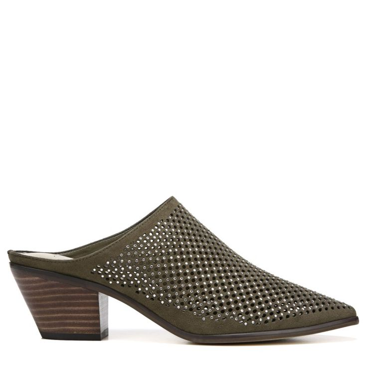 Carlos BY Carlos Santana Women's Penny Mule Shoes (Tuscan Olive Fabric)