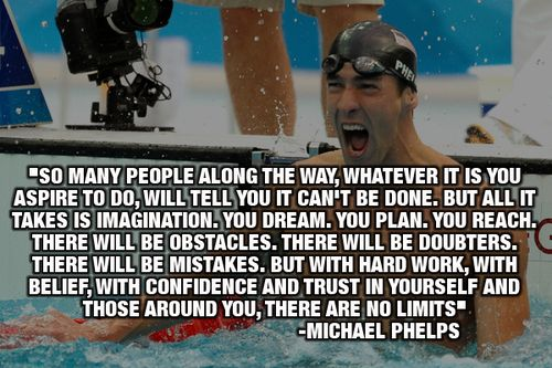 Michael Phelps. Not a big fan but this is pretty good.
