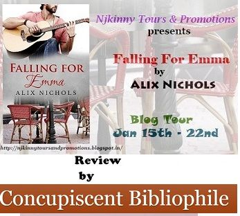 #BookReview Falling For Emma by Alix Nichols by Concupiscent Bibliophile..Read the Review here: http://concupiscentbibliophile.blogspot.in/2015/01/falling-for-emma-release-blitz-and.html #NjkinnyTours #Romance #Novella #Recommended