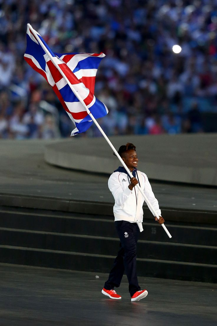 Olympic Boxing Champion, Nicola Adams is Flagbearer for Team GB.