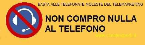 Non compro nulla al telefono . campagna contro il telemarketing #telemarketing #protesta
