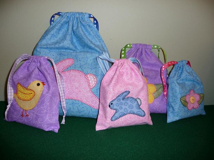 Make some little bags for Easter!