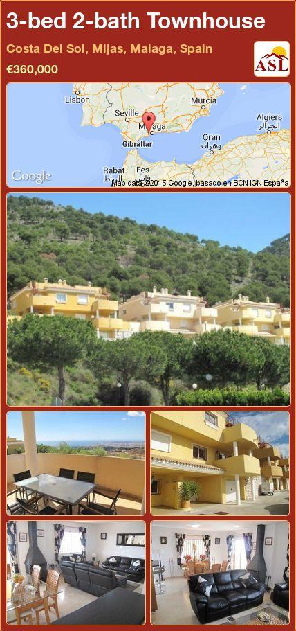3-bed 2-bath Townhouse in Costa Del Sol, Mijas, Malaga, Spain ►€360,000 #PropertyForSaleInSpain