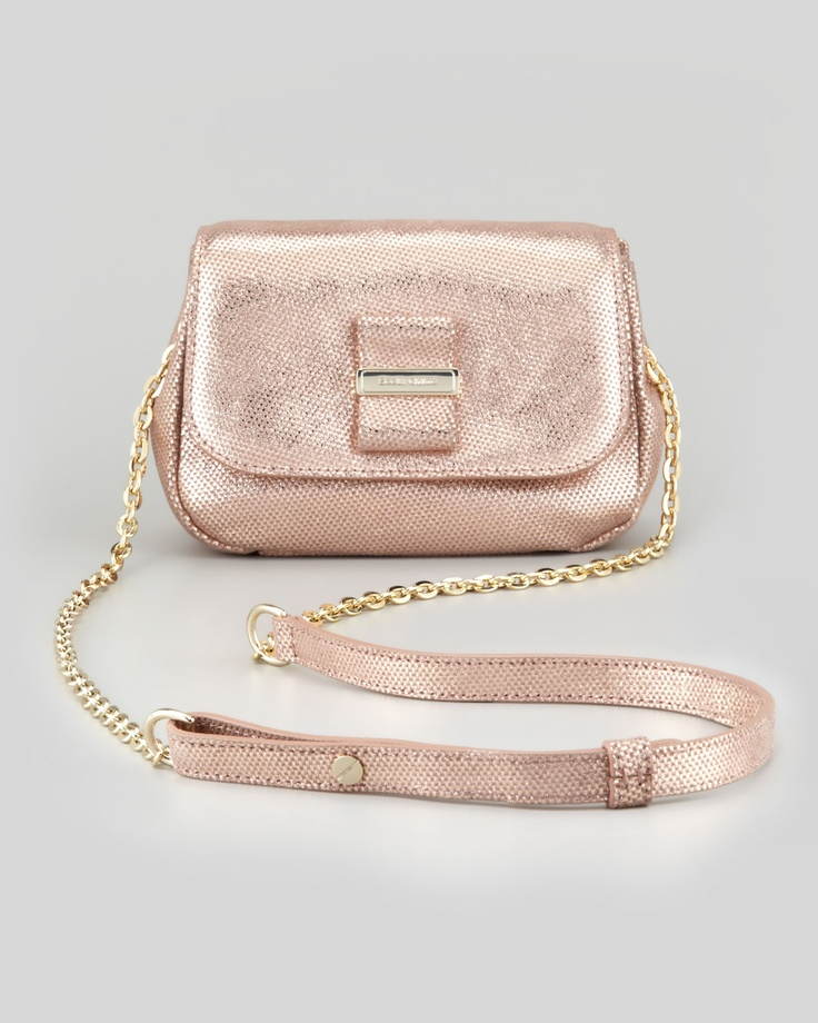 See by Chlo¨¦, Rosita Metallic Crossbody Bag, Champagne, $375 [rose ...