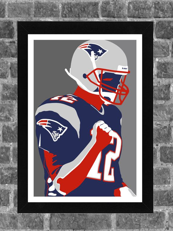New England Patriots Tom Brady Portrait Sports by FanFourLife