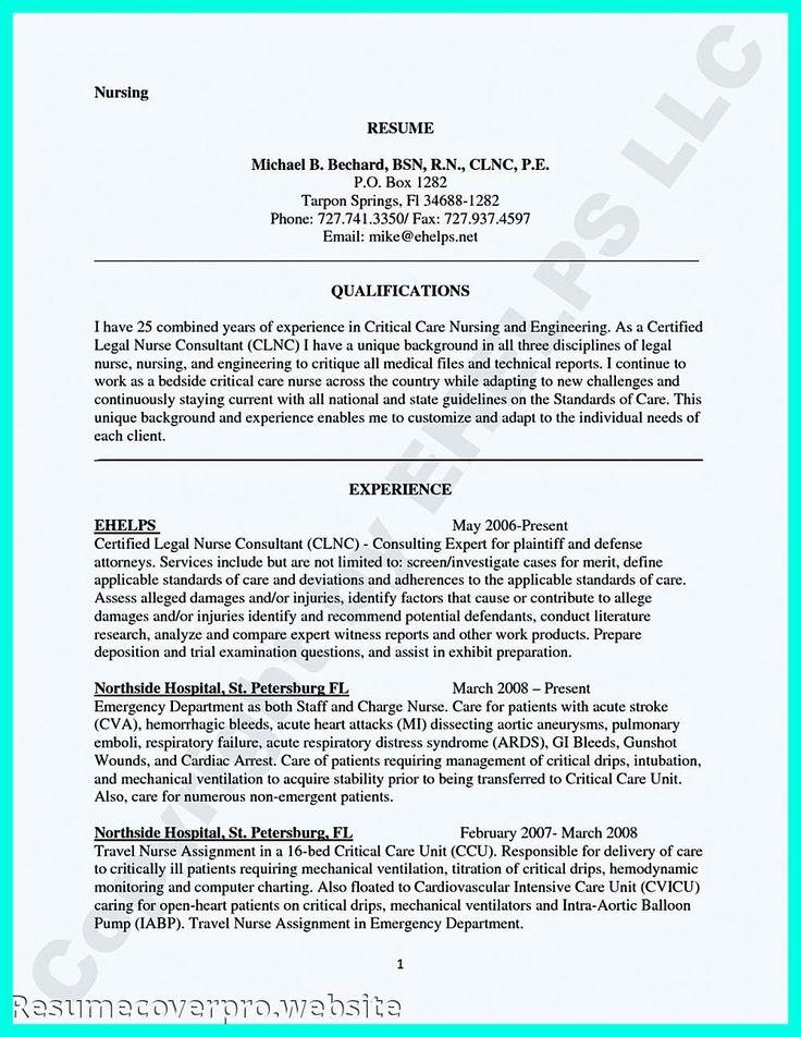 Telemetry Nurse Job Description Resume New Pin On Resume