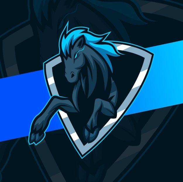 黒い馬マスタングマスコットロゴデザイン Black Horse Mascot Eagle Mascot