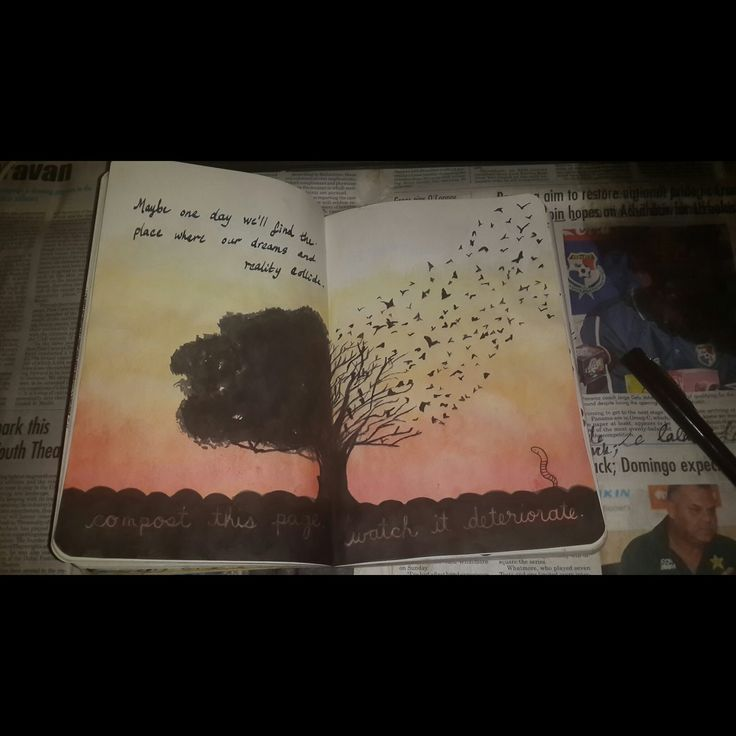 Wreck this journal - page 56- 57 by Damselindubai.deviantart.com on @deviantART