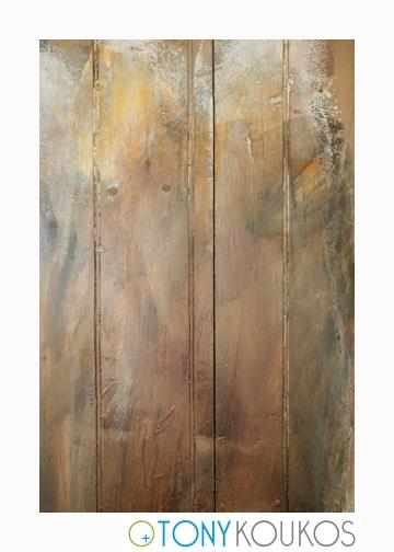 wood, vertical planks, paint, brushstrokes, soft, aged, dodecanese islands, greece, Tony Koukos, Koukos