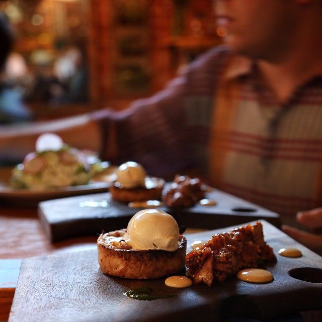 Smoked Rabbit Pie, Cheddar, Mustard Ice Cream at Le Pigeon PDX