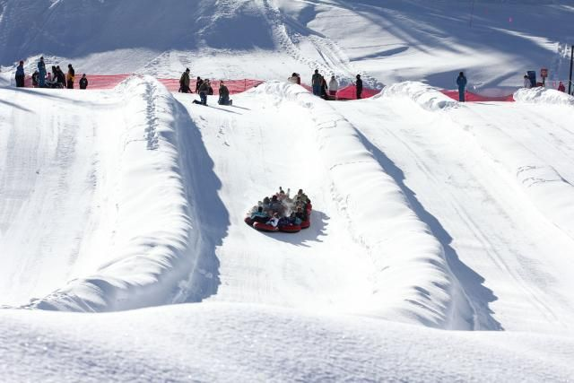 Snow tubing hill in Colorado's Copper Mountain Resort