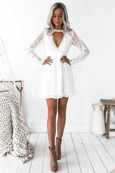 Dakota Embroidered Dress - White