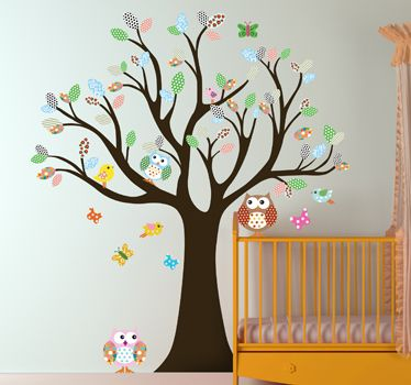 Vinilo infantil árbol del bosque - TenVinilo