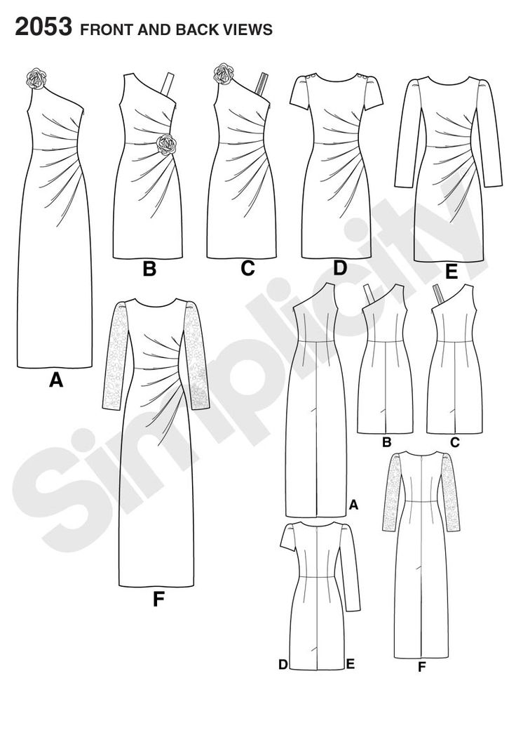 Popular Simplicity Misses Dress in two lengths with bodice variations sewing pattern