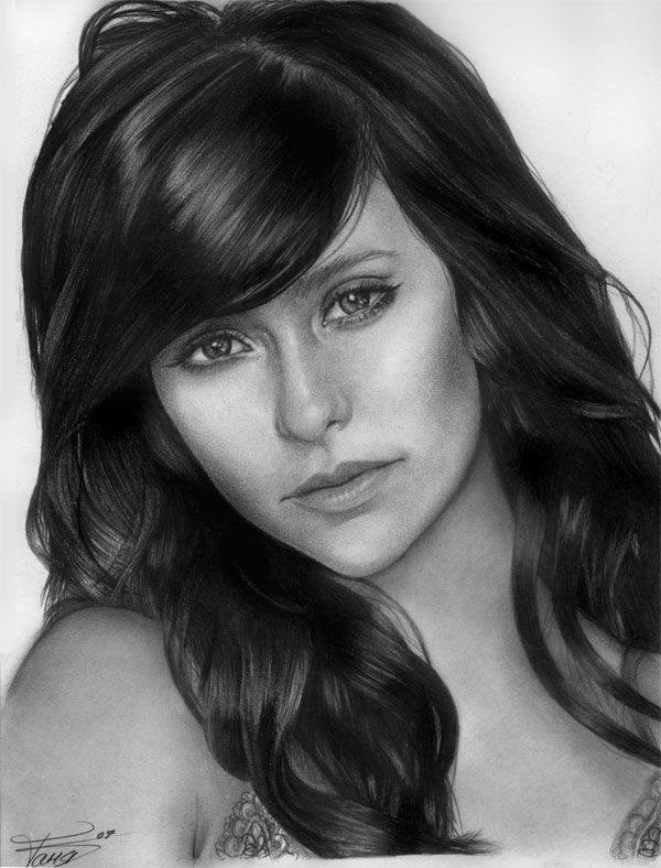 Jennifer Love Hewitt: Pencil art word photos