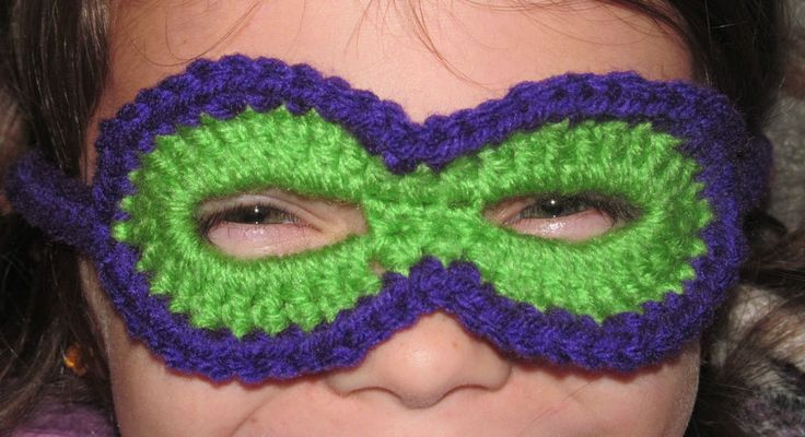 LOT Crochet Children's Mask, Ninja, Superhero, Halloween Costume, TMNT, Dress Up #Handmade #Mask