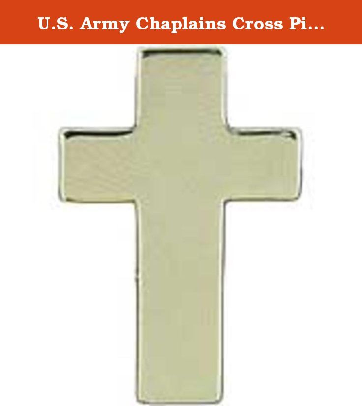 """U.S. Army Chaplains Cross Pin Silver Plated 1"""". This is a new U.s. Army Chaplains Cross Pin Silver Plated 1""""."""