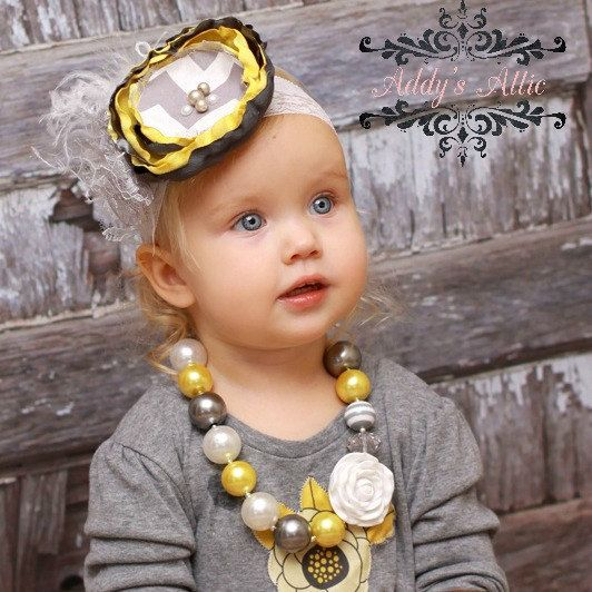 Chunky Beaded Necklace..Chunky Necklace..Childrens Necklace..Pearl Necklace..Photo Prop. $21.00, via Etsy.