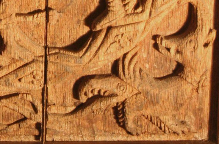 The Fetteresso St Sebastian panel - DETAIL showing grotesque 4