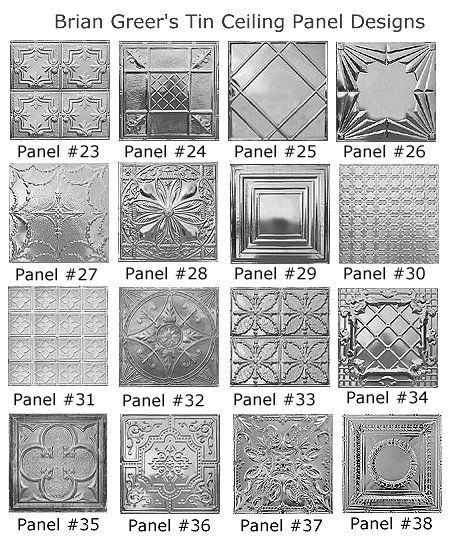 We're looking at these for the back splash for our new kitchen - still picking the pattern. Tin Ceiling