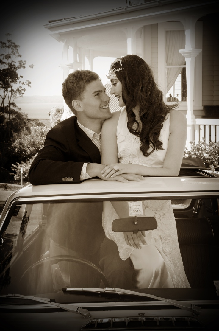 A bridal photo shoot at McHardy Lodge Napier NZ. Photos by MBS Photography. Wedding transport supplied by Hooters http://www.mbsphotography.co.nz/ http://mchardylodge.com/ www.hooters.hire.co.nz