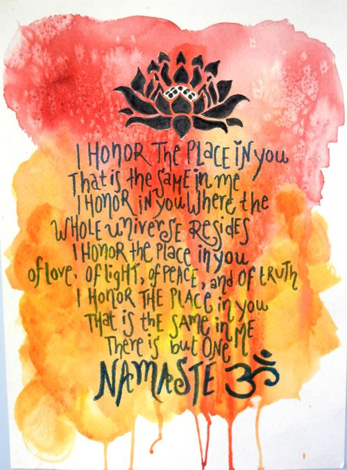"""The meaning of """"namaste"""" - the indian way of greeting people with joined hands."""