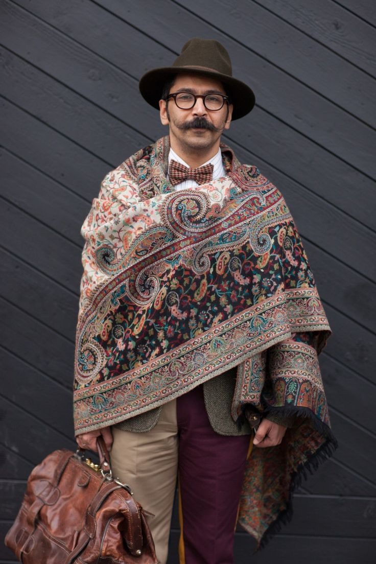 Eccentric vintage luxury, carefully curated and styled. WGSN street style at Pitti Uomo Subscribers click here for trends and full images galleries!   #Fashion