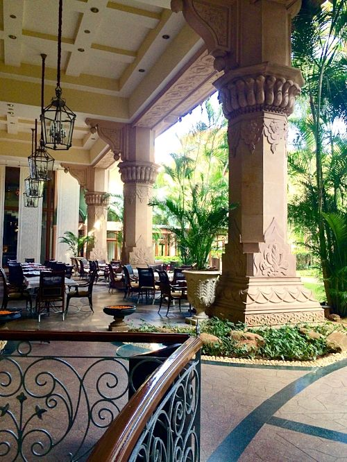 Entrance to the Jamavar Restaurant with Royal Indian Cuisine