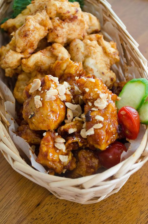 Korean Fried Chicken with Sweet Chili Sauce