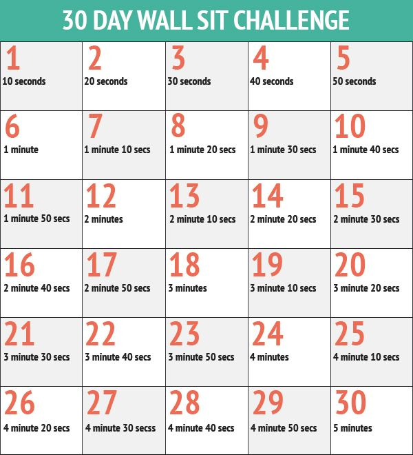 30 Day Fitness Challenges - The 30 Day Wall Sit Challenge..... 5min wall sit sounds impossible and really boring lol