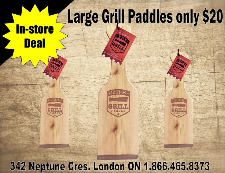 Large paddles on sale in store only!