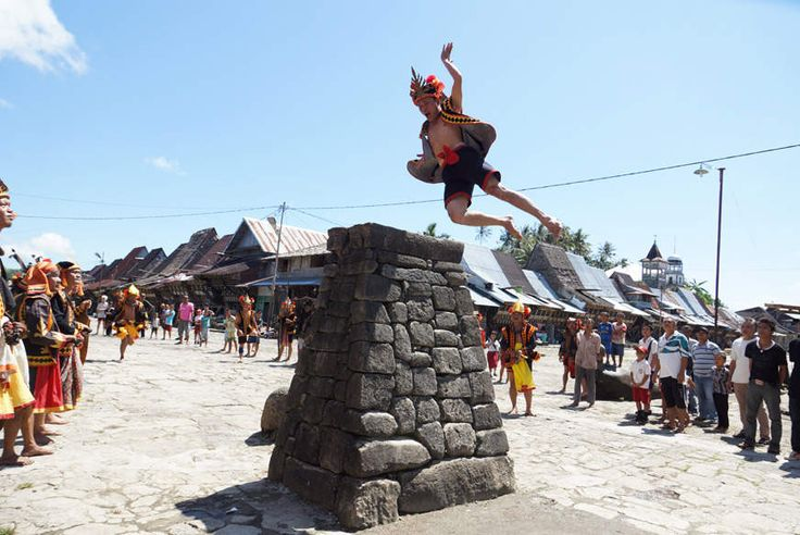 Lompat Batu festival, literally means 'jumping over the stone' of Nias island
