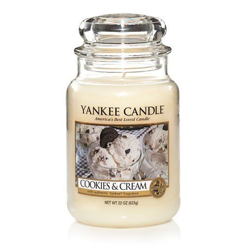 `Cookies & Cream' - YankeeCandle. Why did I never see/hear of this before!!?! I bet it smells amazing!