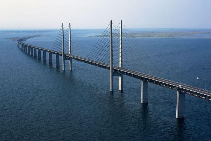 die Öresund-Brücke von Dänemark nach Schweden