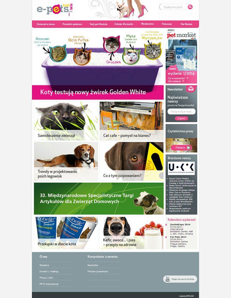 Web Design for e-pets.eu