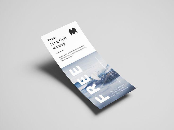 Free Long Flyer Mockup Mockups Design Flyer Mockup Flyer Mockup Free Flyer