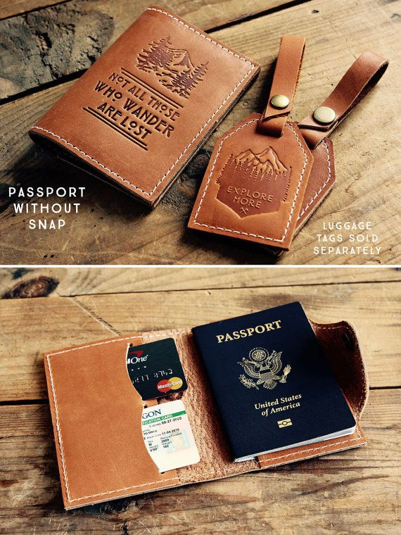 Passport Cover Leather Passport Personalized от CurtisMatsko
