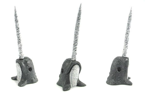 Narwhal ring holder. Easy to make out of polymer clay.