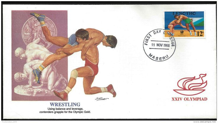 FDC - OLYMPICS SEOUL - 1988 - LESOTHO ( stamp topic wrestling ) - Delcampe.net