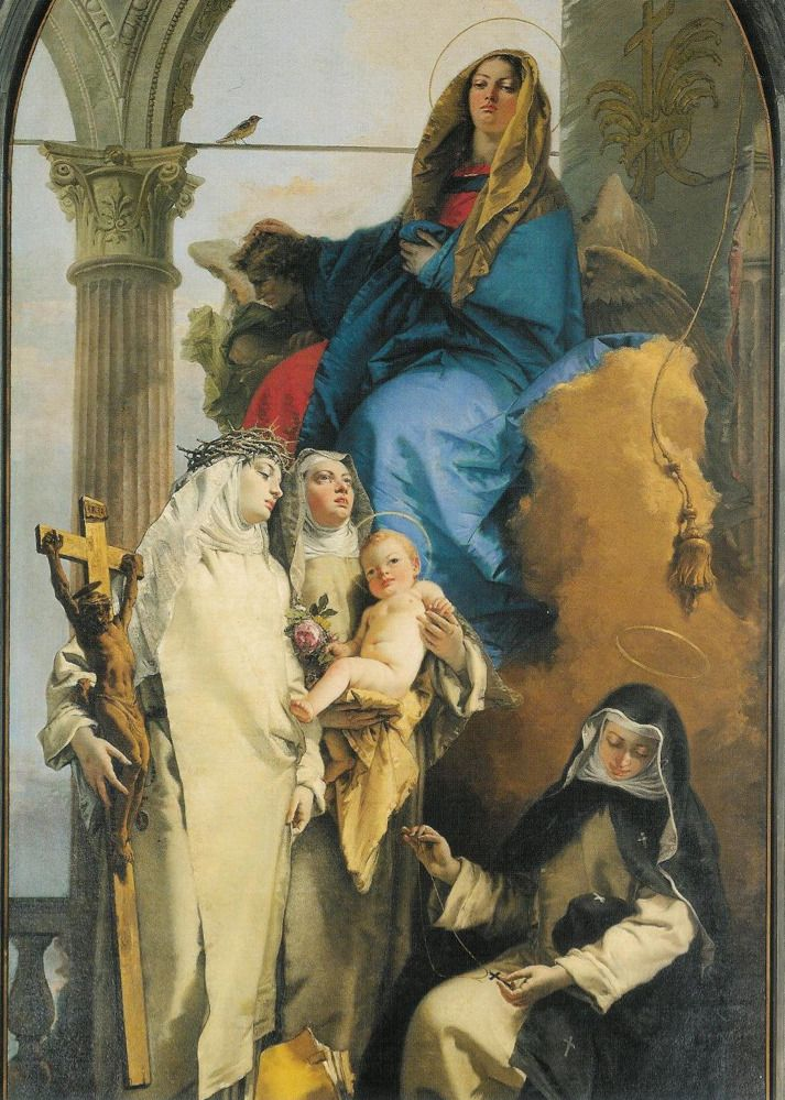 The Virgin with St Rose of Lima, St Catherine of Siena and St Agnes of Montepulciano, Giambattista Tiepolo, 1748