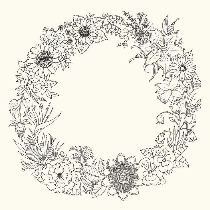 Johanna Basford Welt Der Blumen Guirlanda De Flores Flores
