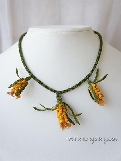 Mimosa シルクイーネオヤ ネックレス